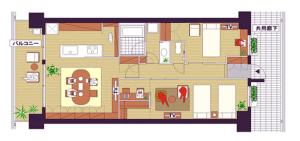 個室充実型の間取りの写真
