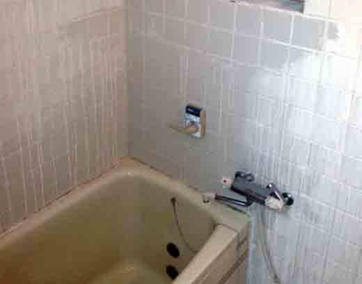 タイル張りの在来のお風呂