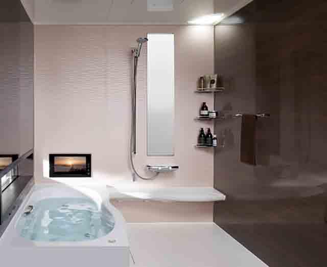 人工大理石の浴槽の写真