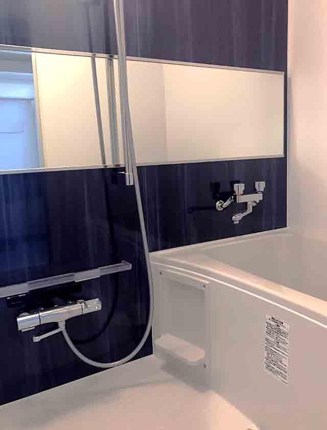 lixil集合住宅用ユニットバスのBWシリーズのアクセント壁