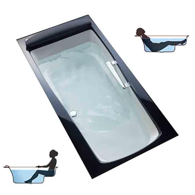 リクライニング浴槽の使い勝手のイメージと写真